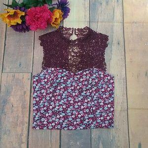 Floral & Lace crop top
